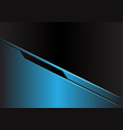 blue metallic futuristic with black blank space vector image vector image