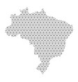 brazil map abstract schematic from black lines vector image vector image