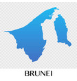 brunei map in asia continent design vector image vector image