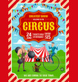 circus or carnival top tent acrobat strongman vector image