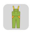 coverall protective clothing flat icon object vector image vector image