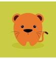 Cute Cartoon tiger vector image vector image