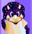 dinger dinosaur mascot logo vector image vector image