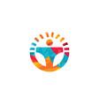 driving school logo design vector image vector image