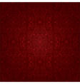 Floral seamless pattern on a red background vector image vector image