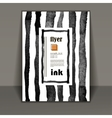 flyer brochure art with ink stains vector image vector image