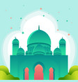 gradient islamic banner with mosque design free vector image vector image
