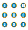 hole icons set flat style vector image vector image