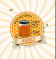 honey yellow retro vintage background vector image vector image