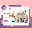 hotel website landing page design template vector image vector image