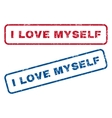I Love Myself Rubber Stamps vector image vector image