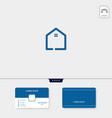 initial creative logo template minimalist logo vector image vector image