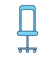isolated desk chair vector image vector image