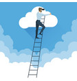 ladders to clouds vector image vector image