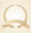 laurel wreath with a ribbon vector image vector image