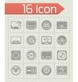 Media player icon set vector image vector image