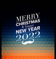 merry christmas holiday greeting design vector image