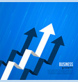 moving forward and leading arrow concept vector image vector image