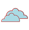 nice clouds natural weather design vector image vector image
