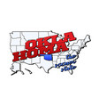 oklahoma state with us state on american vector image vector image