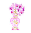 orchid phalenopsis white and purple in a vase of vector image vector image