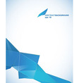 Paper template with blue abstract stripe with vector image
