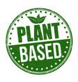 plant based grunge rubber stamp vector image