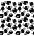 Polka dot on white seamless pattern vector image