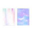 princess background with kawaii rainbow gradient vector image vector image