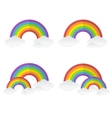 rainbow and clouds set vector image