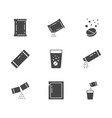 sachet glyph icons included vector image