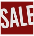 Sale big red banner vector image vector image