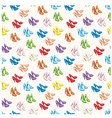 seamless shoes pattern vector image vector image