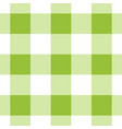 seamless white dark and bright green tartan vector image