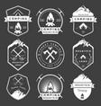 set badges camping and hiking vector image vector image