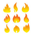 set of flame a collection of stylized vector image vector image