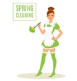 Sexy Maid Cleaning Lady Dusting vector image vector image