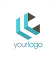 shape geometry company logo vector image