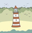 shiplighthouse16 vector image vector image