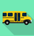 side of mini school bus icon flat style vector image