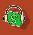 sticker unusual look skype logo vector image vector image