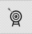 target with arrow icon on transparent background vector image vector image