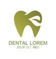 tooth dental logo vector image vector image