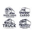 truck logo set transportation monochrome style vector image vector image