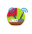 wireless network wifi router vector image