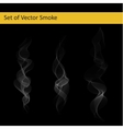 Set of cigarette smoke vector image