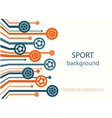 Concept of web banner Sport background vector image