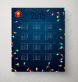 2015 year calender Blue backdrop with garland vector image vector image