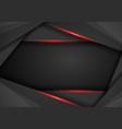 abstract metallic modern red black frame design vector image vector image