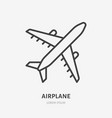 airplane flat line icon plane vector image